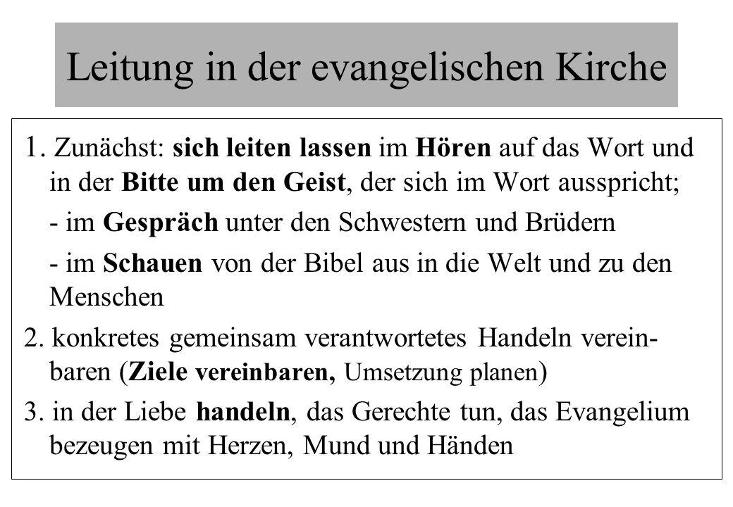 Leitung in der evangelischen Kirche