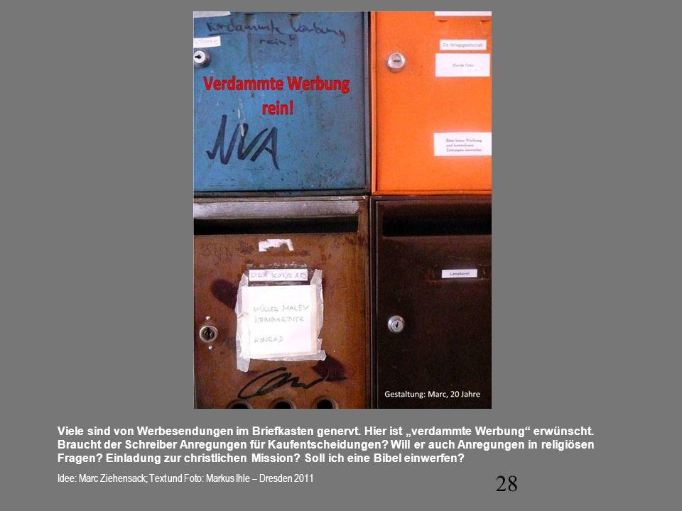 Viele sind von Werbesendungen im Briefkasten genervt