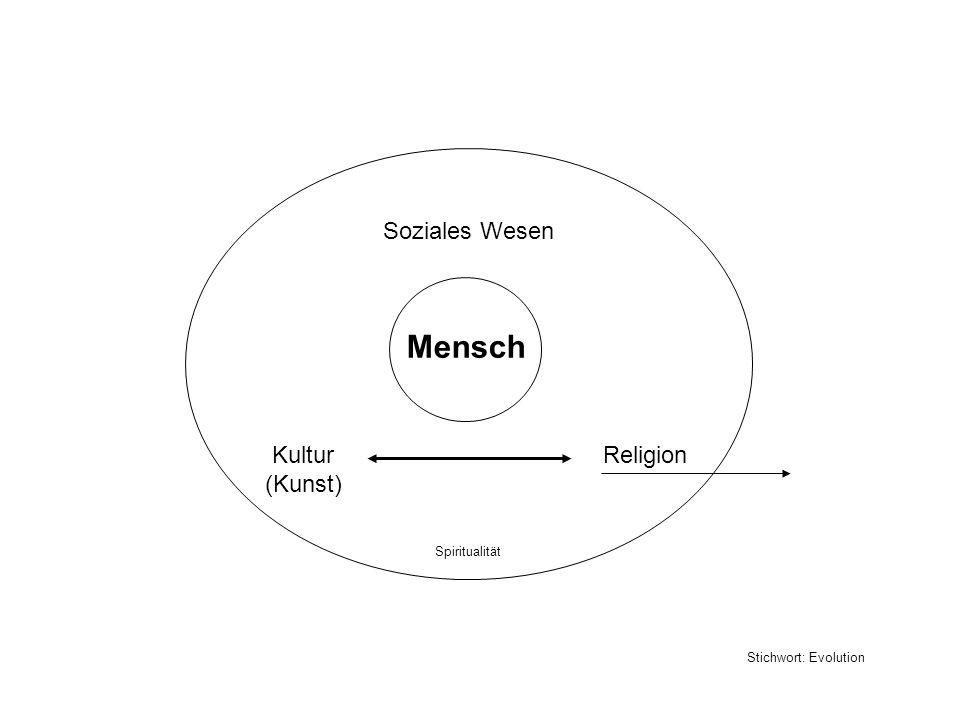 Mensch Soziales Wesen Kultur (Kunst) Religion Spiritualität