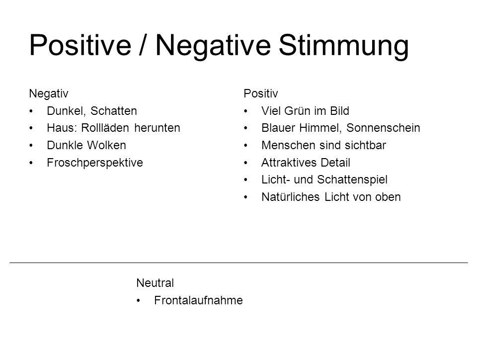 Positive / Negative Stimmung