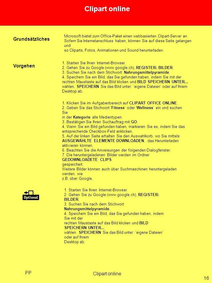 Clipart online Grundsätzliches Vorgehen PP Clipart online 16