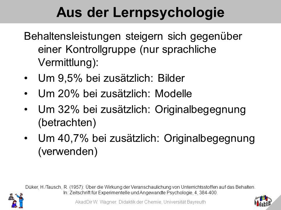 Aus der Lernpsychologie