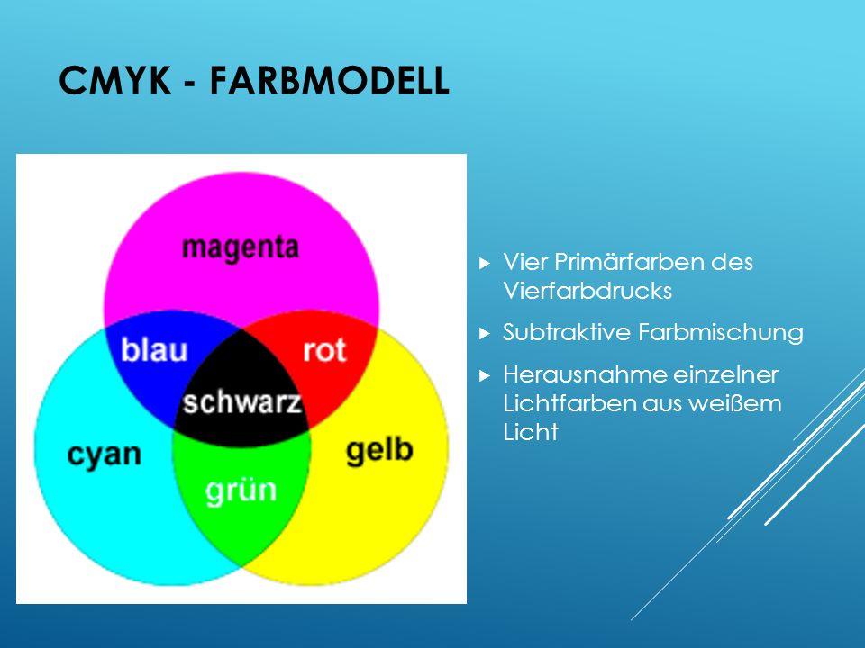 CMYK - Farbmodell Vier Primärfarben des Vierfarbdrucks
