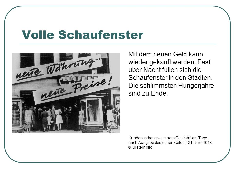 Volle Schaufenster