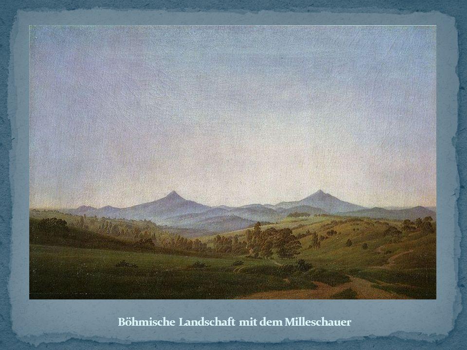 Böhmische Landschaft mit dem Milleschauer