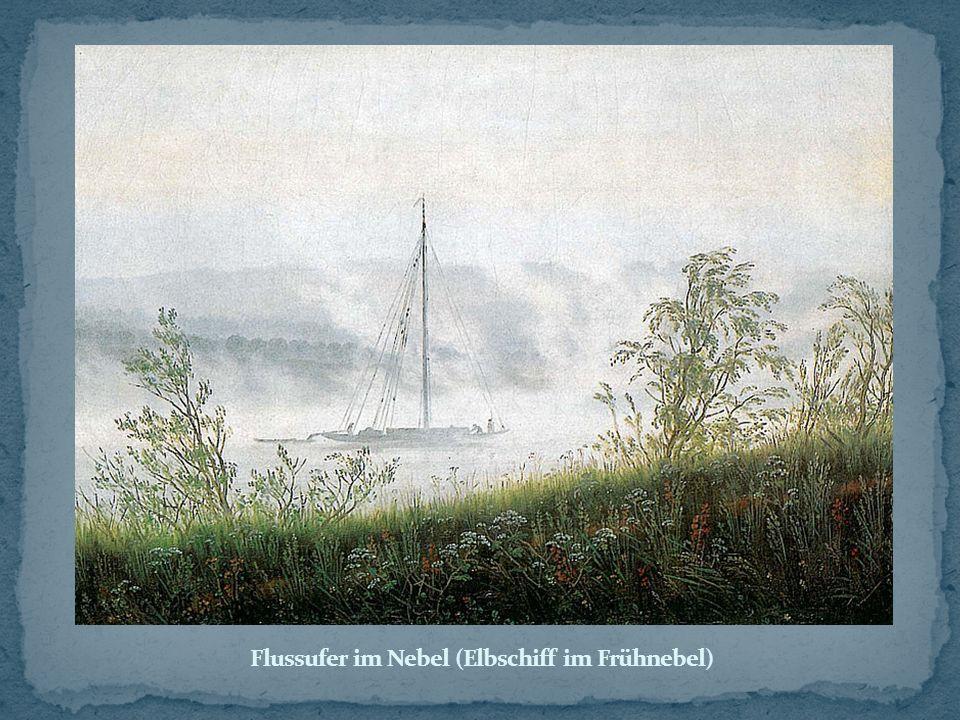 Flussufer im Nebel (Elbschiff im Frühnebel)