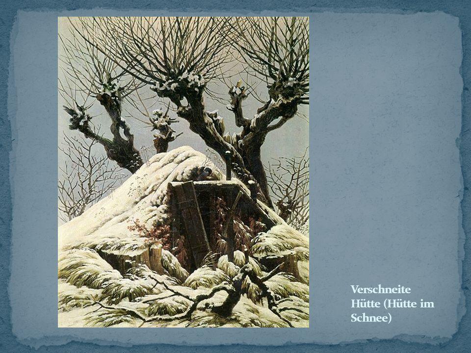Verschneite Hütte (Hütte im Schnee)