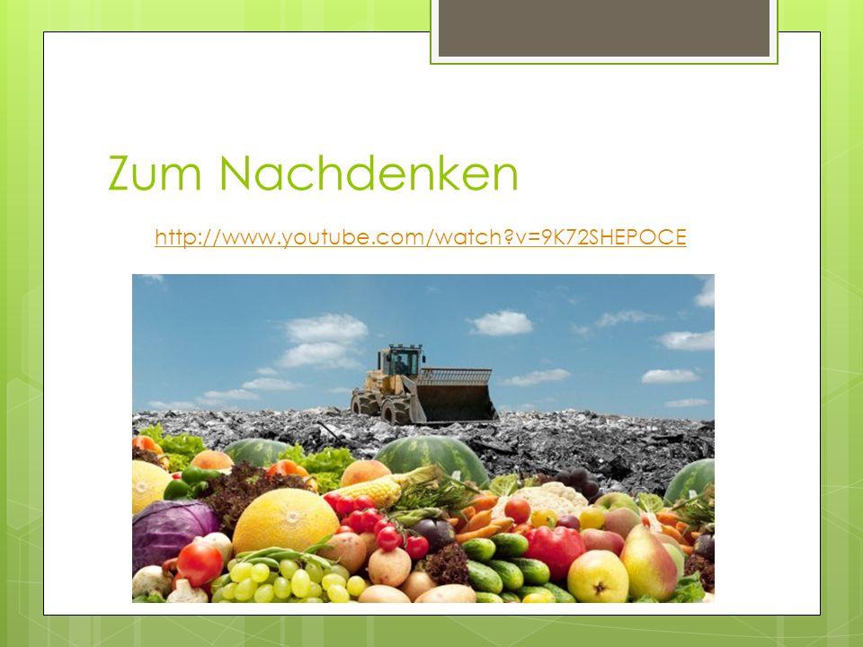 Zum Nachdenken http://www.youtube.com/watch v=9K72SHEPOCE
