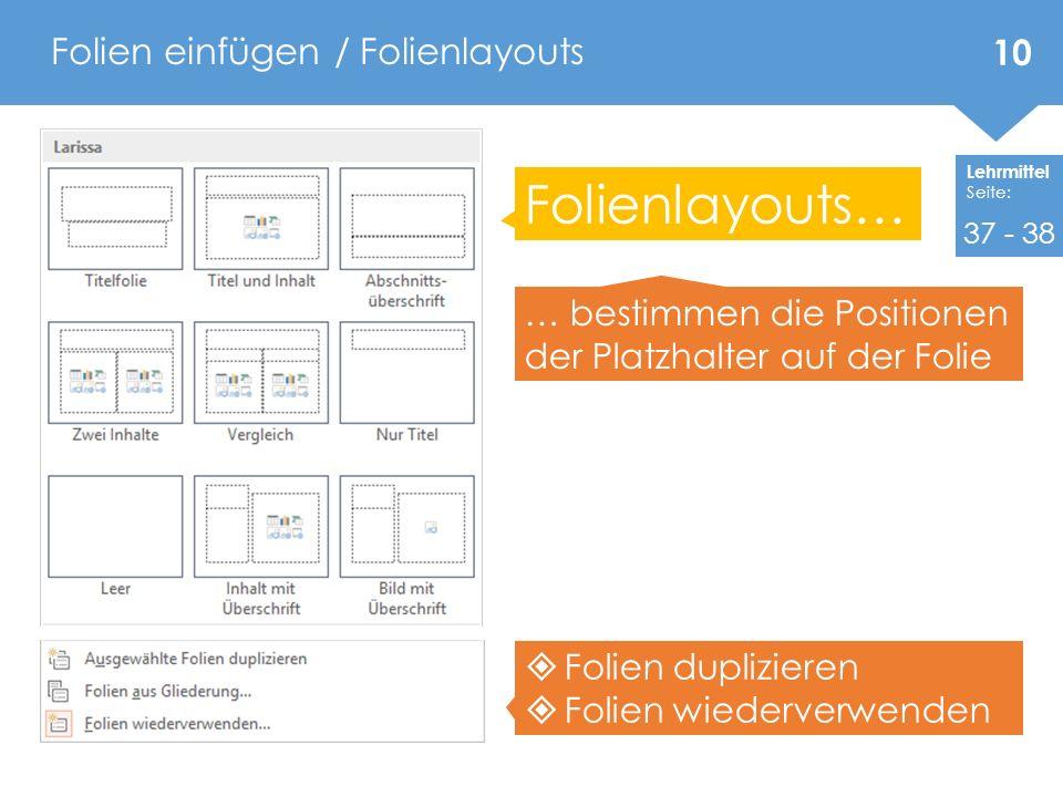 PowerPoint 2010 / 2013 Programm – Funktionen Teil 1 - ppt