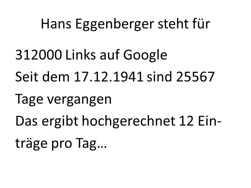Hans Eggenberger steht für