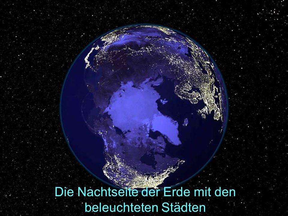 Die Nachtseite der Erde mit den