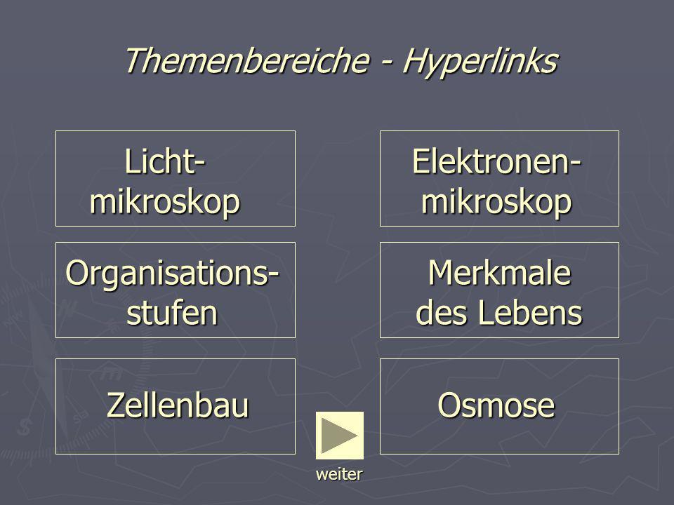 Themenbereiche - Hyperlinks