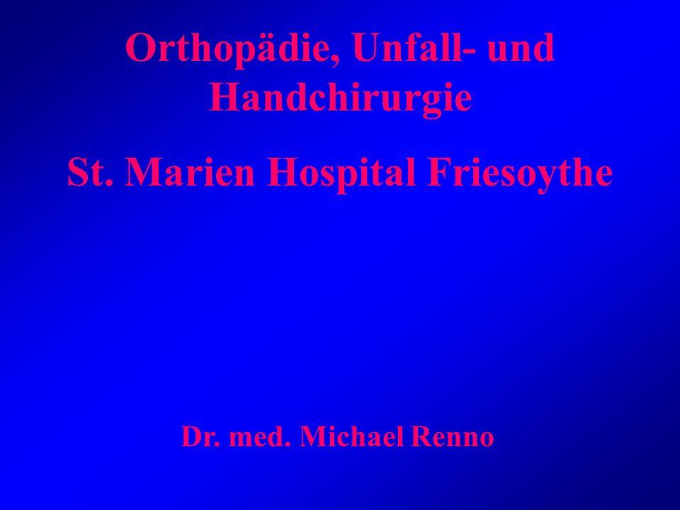 Orthopädie, Unfall- und Handchirurgie St. Marien Hospital Friesoythe