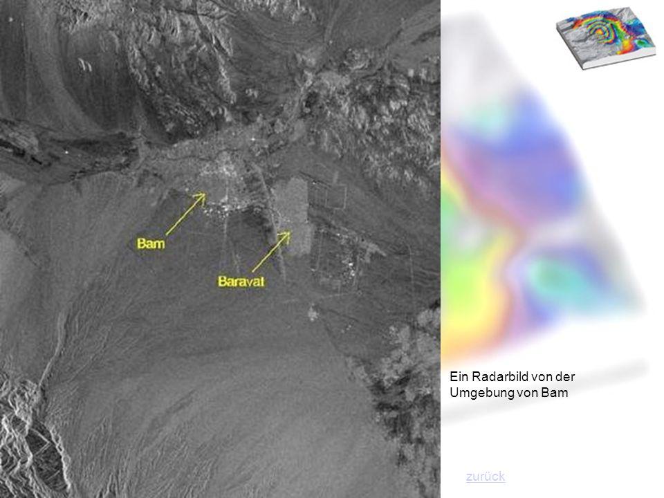 Ein Radarbild von der Umgebung von Bam