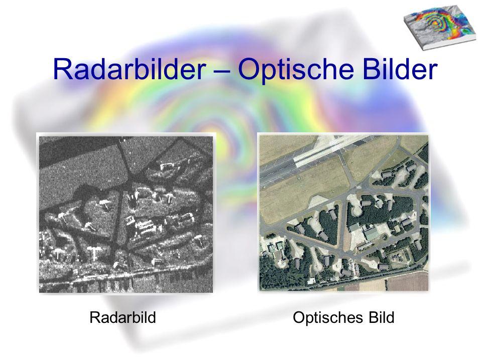 Radarbilder – Optische Bilder