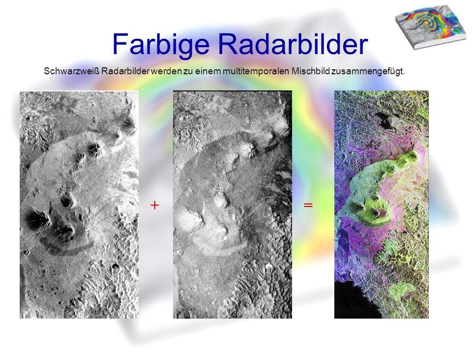 Farbige Radarbilder + =