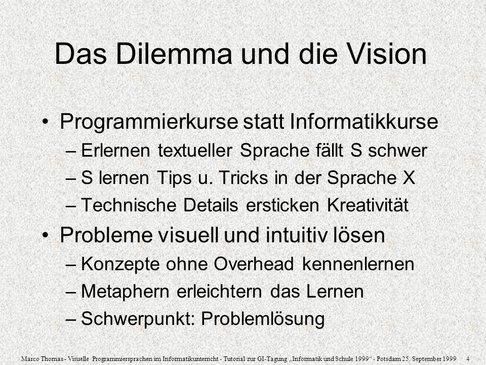 Das Dilemma und die Vision