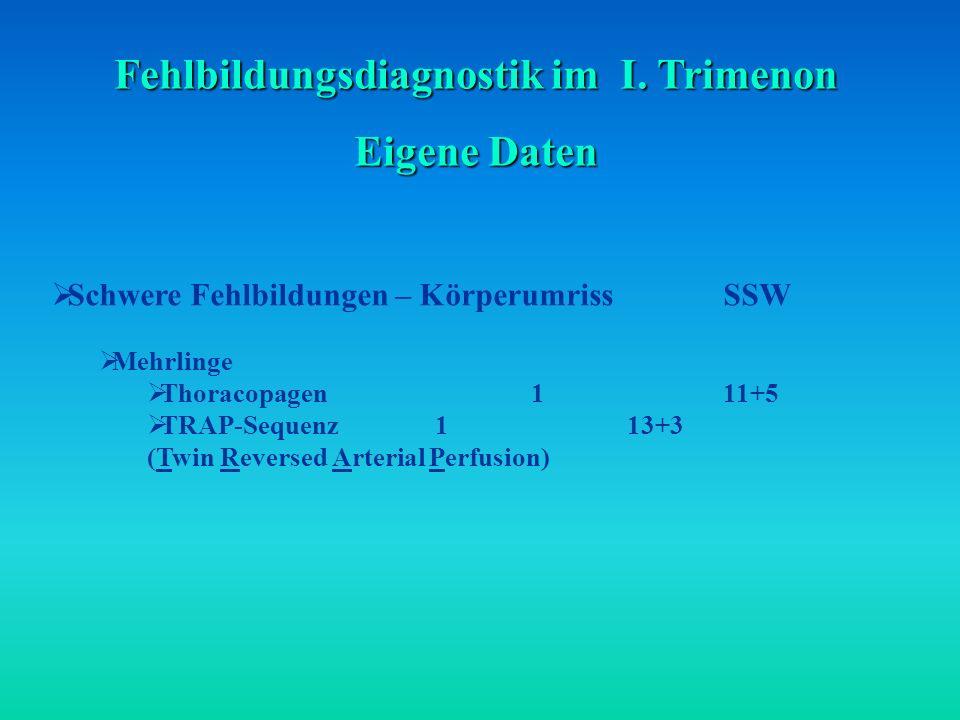 Fehlbildungsdiagnostik im I. Trimenon