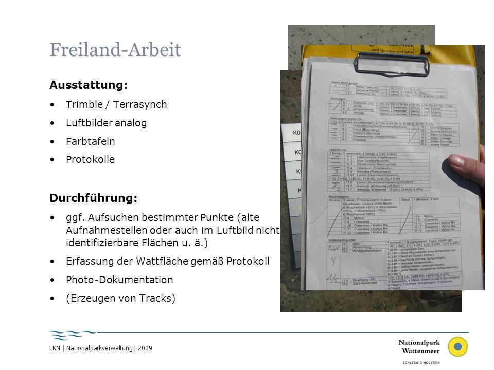 Freiland-Arbeit Ausstattung: Durchführung: Trimble / Terrasynch