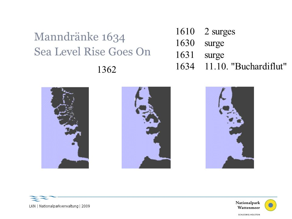 Manndränke 1634 Sea Level Rise Goes On