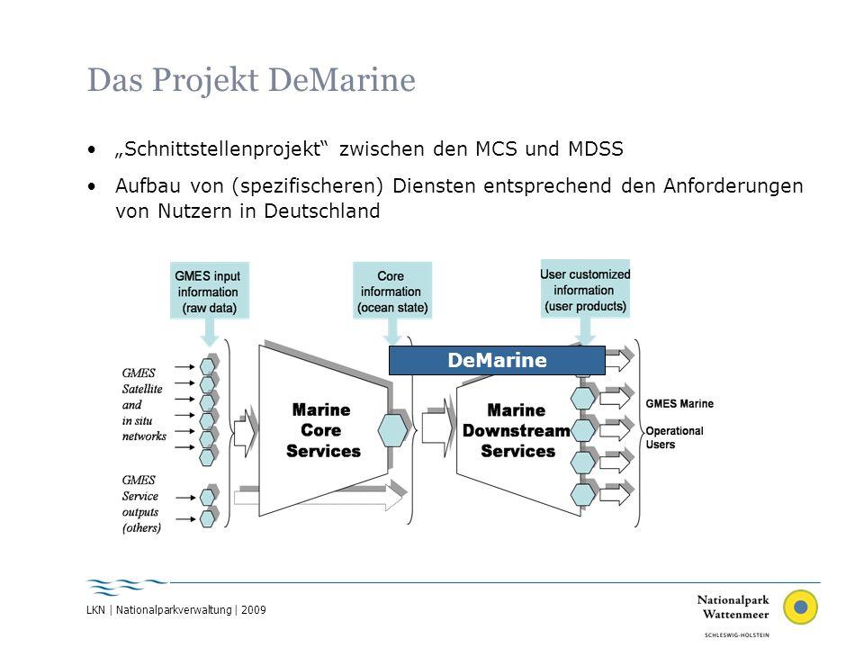 """Das Projekt DeMarine """"Schnittstellenprojekt zwischen den MCS und MDSS"""