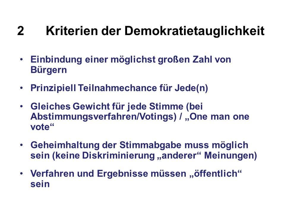 2 Kriterien der Demokratietauglichkeit