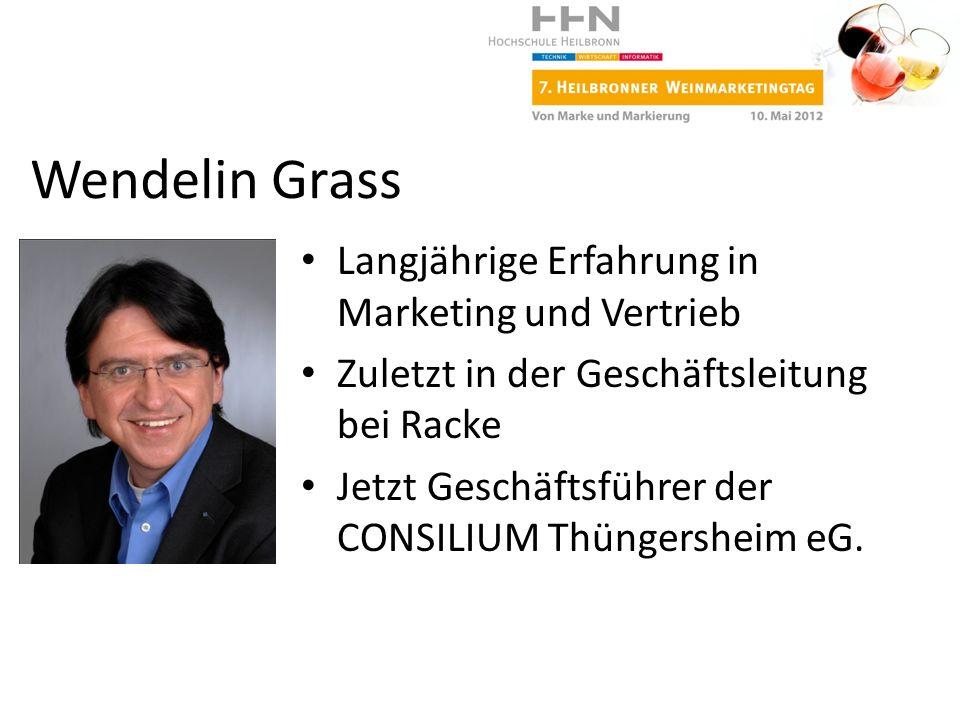 Wendelin Grass Langjährige Erfahrung in Marketing und Vertrieb