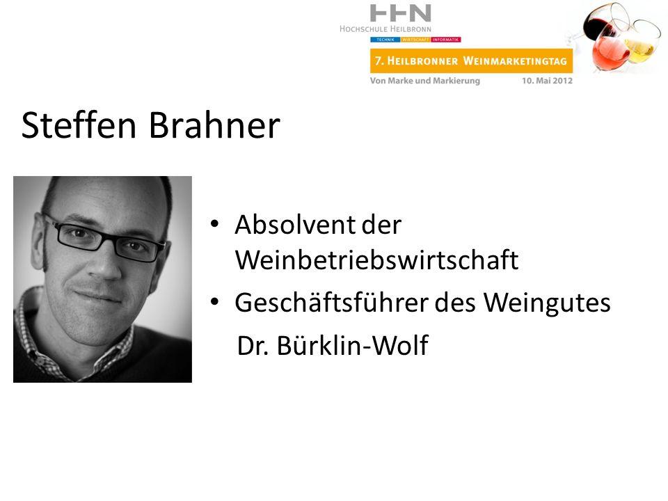 Steffen Brahner Absolvent der Weinbetriebswirtschaft