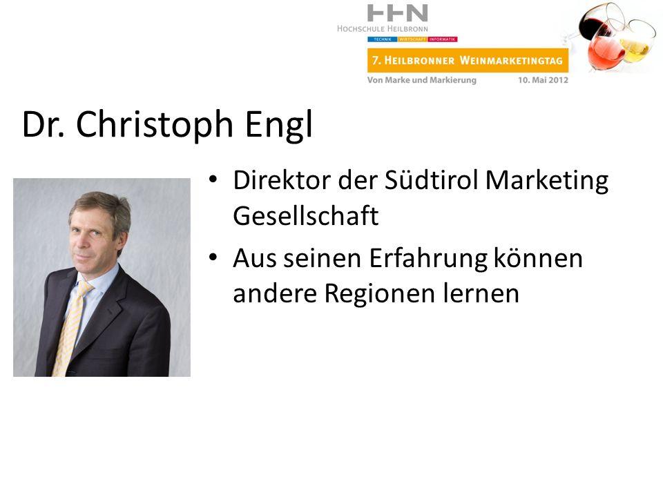 Dr. Christoph Engl Direktor der Südtirol Marketing Gesellschaft