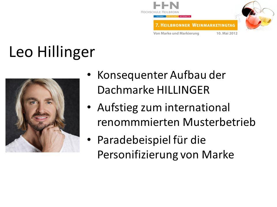 Leo Hillinger Konsequenter Aufbau der Dachmarke HILLINGER
