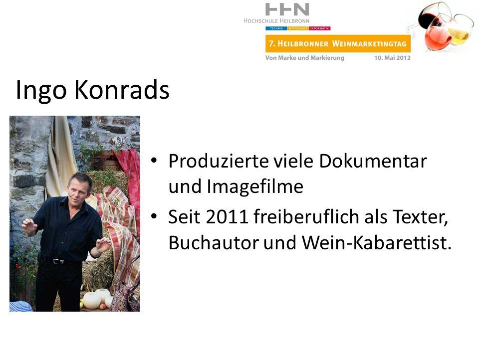 Ingo Konrads Produzierte viele Dokumentar und Imagefilme