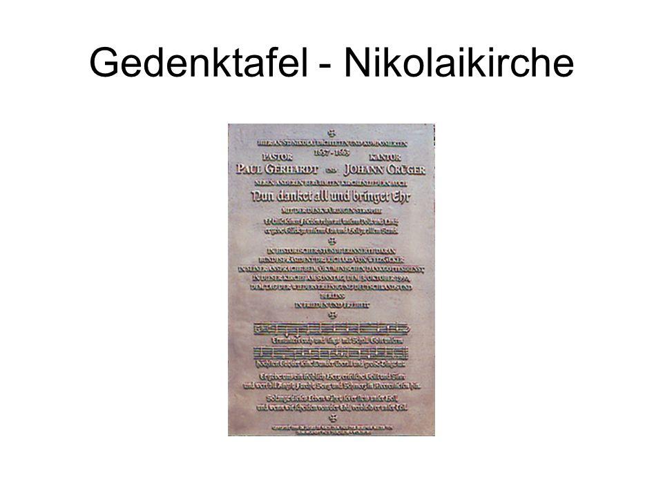 Gedenktafel - Nikolaikirche