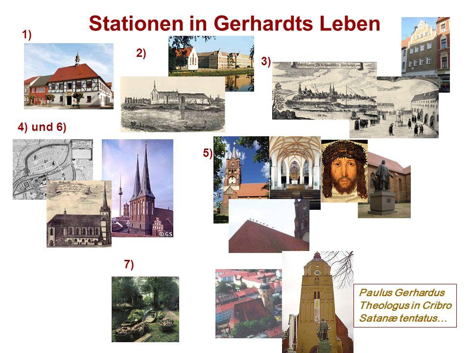 Stationen in Gerhardts Leben