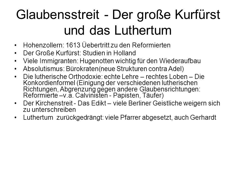 Glaubensstreit - Der große Kurfürst und das Luthertum