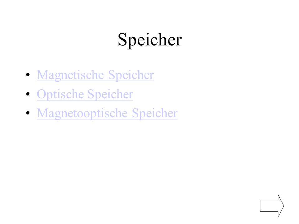 Speicher Magnetische Speicher Optische Speicher