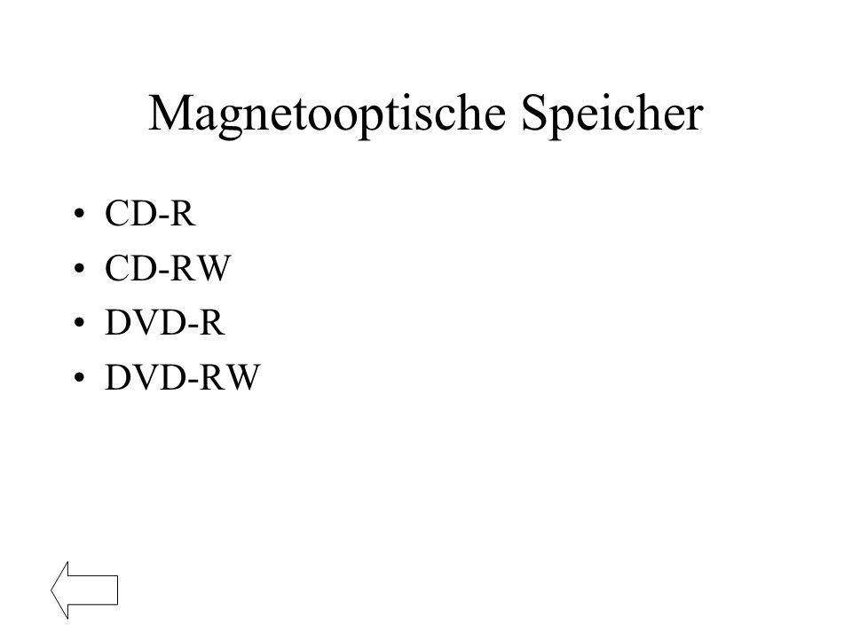 Magnetooptische Speicher