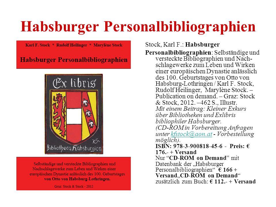 Habsburger Personalbibliographien