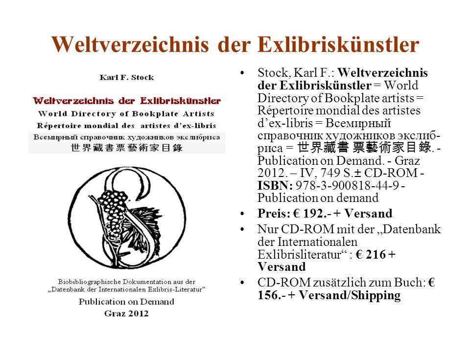 Weltverzeichnis der Exlibriskünstler
