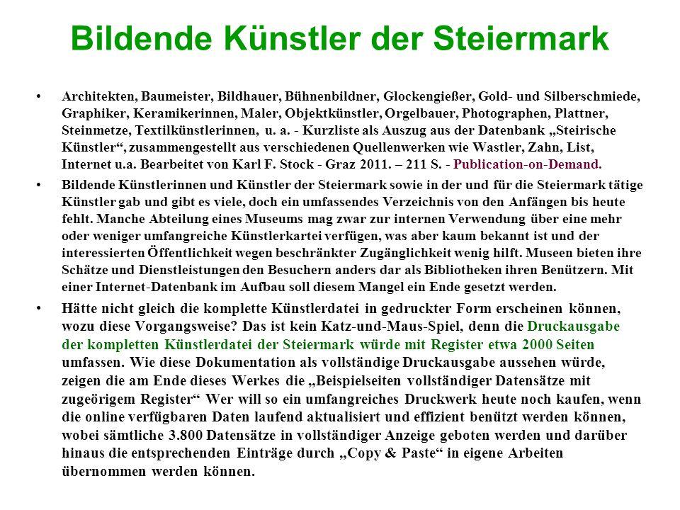 Bildende Künstler der Steiermark