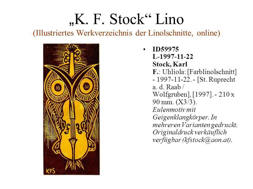 """""""K. F. Stock Lino (Illustriertes Werkverzeichnis der Linolschnitte, online)"""