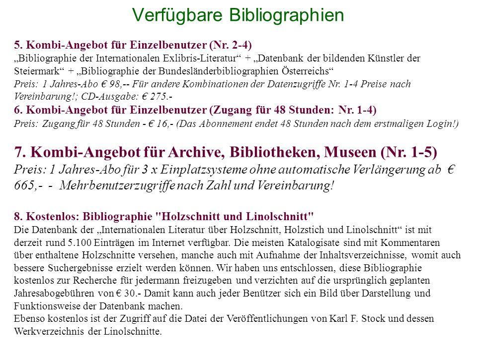 Verfügbare Bibliographien