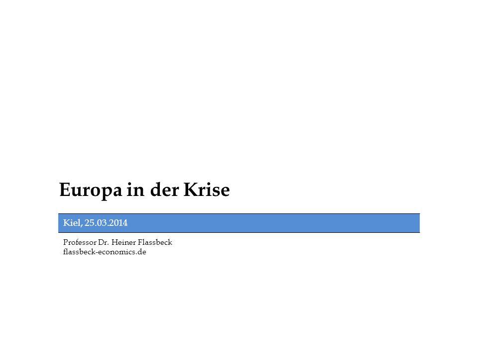 Europa in der Krise Kiel, 25.03.2014