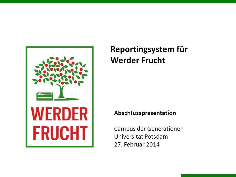 Reportingsystem für Werder Frucht