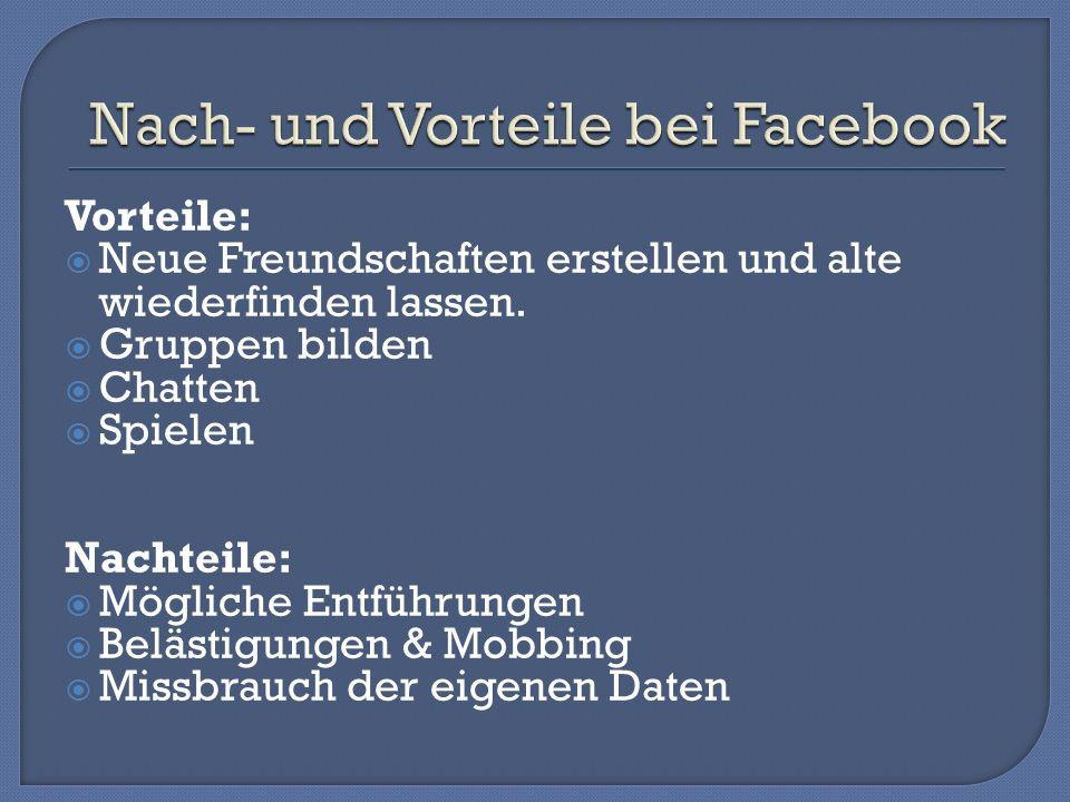 Nach- und Vorteile bei Facebook