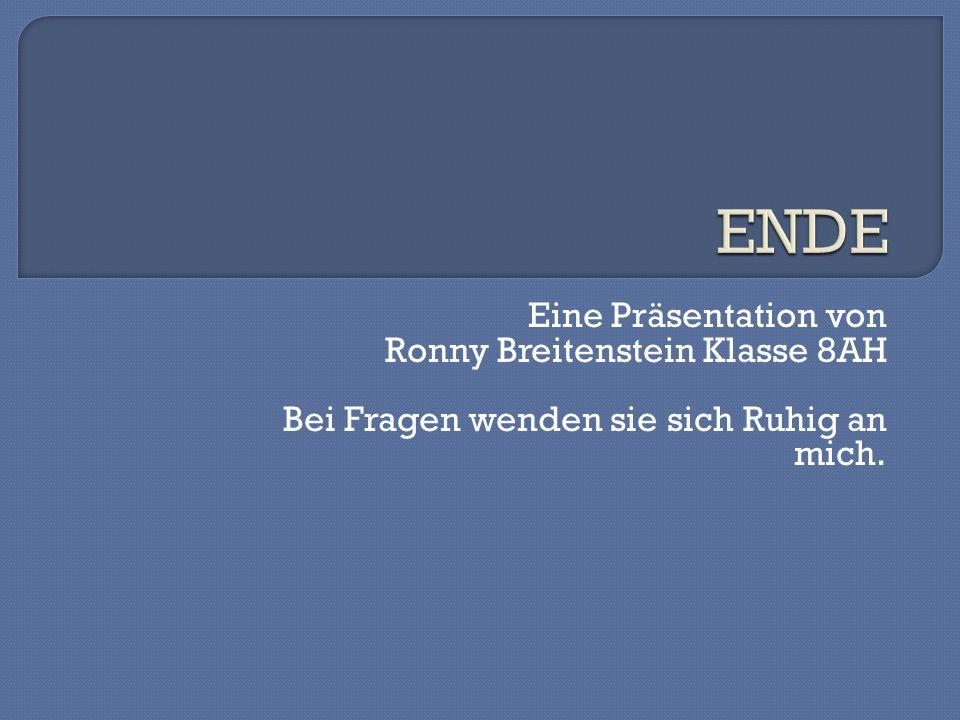 ENDE Eine Präsentation von Ronny Breitenstein Klasse 8AH