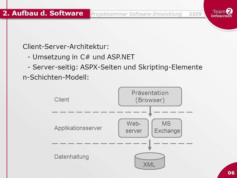 Client-Server-Architektur: - Umsetzung in C# und ASP.NET