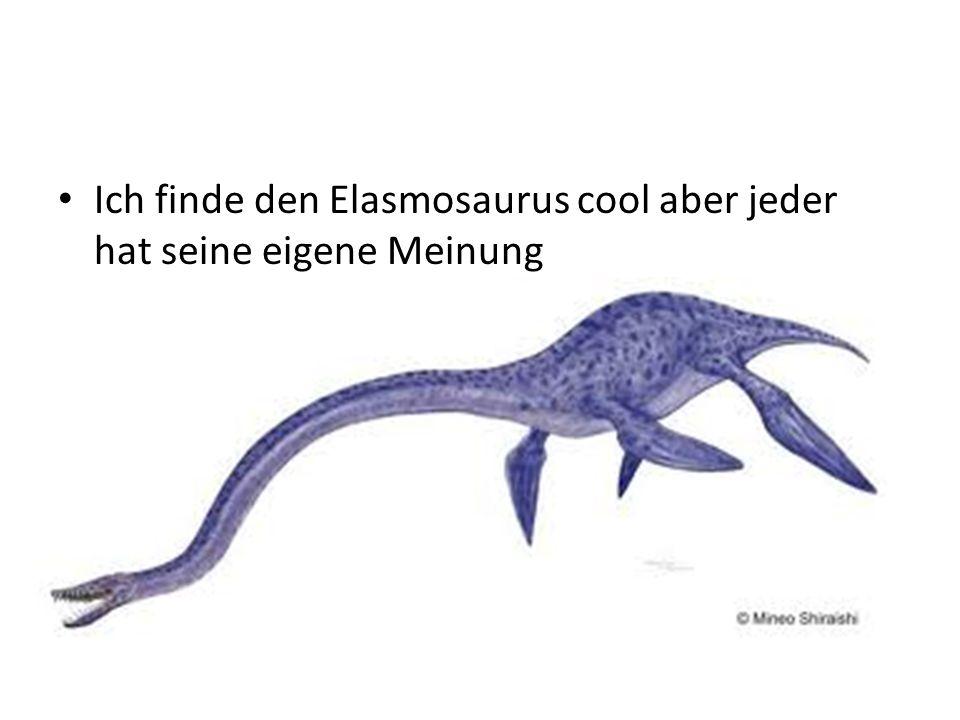 Ich finde den Elasmosaurus cool aber jeder hat seine eigene Meinung