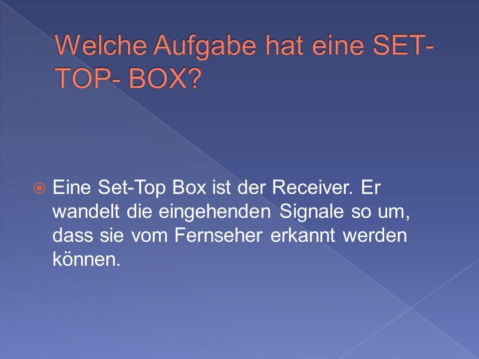Welche Aufgabe hat eine SET- TOP- BOX