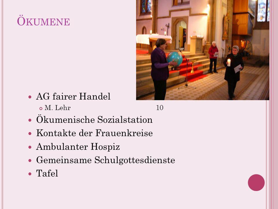 Ökumene AG fairer Handel Ökumenische Sozialstation