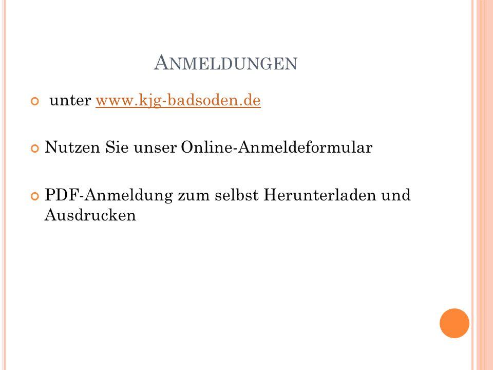 Anmeldungen unter www.kjg-badsoden.de